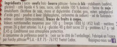 Gâteau marbré au café pur arabica - Ingredients - fr
