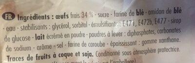 Génoise aux oeufs frais - Ingrediënten