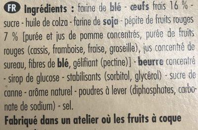Blondie aux Fruits Rouges - Ingredients