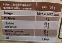 Bûche pur beurre Cacao - Nutrition facts - fr