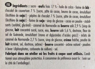Forchy Brownie caramel au beurre salé 285gr - Ingredients - fr