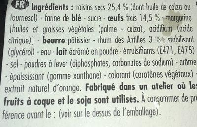 Forchy Raisin Cake - Ingredients - fr