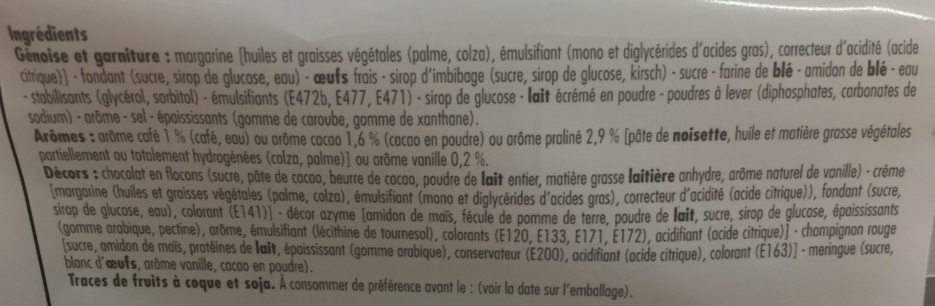 La Bûche pâtissière parfum vanille - Ingredients