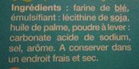 CORNETS A GLACES X24 - Ingrédients