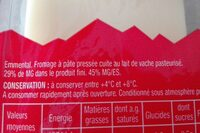 Emmental tranchettes - Ingrediënten