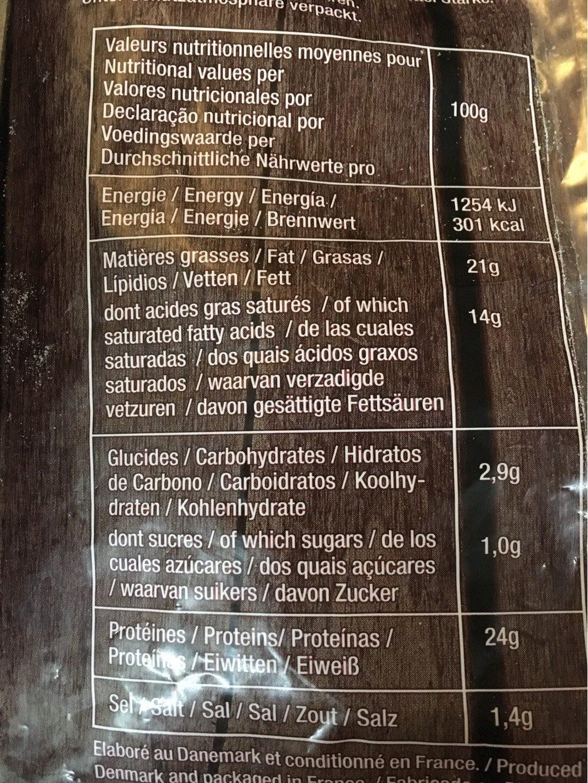 Mozzarella cosette - Información nutricional