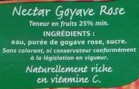 Nectar de goyave rose - Ingrédients