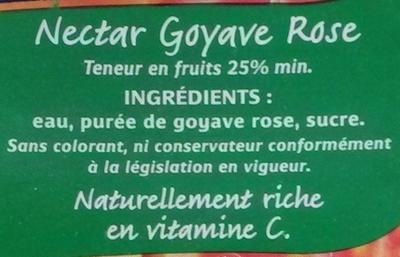 Nectar de goyave rose - Ingrédients - fr