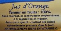 Jus d'orange des tropiques - Ingrédients - fr