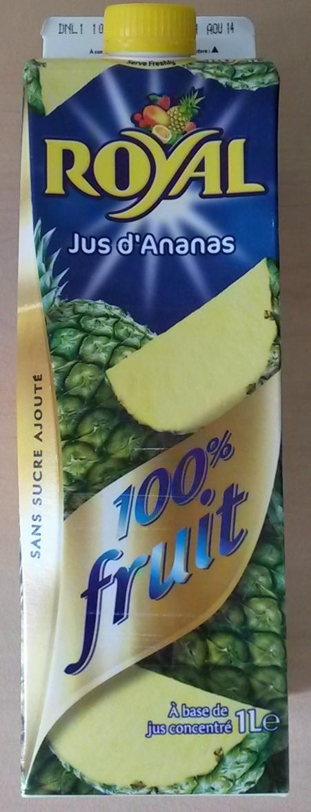 Jus d'ananas 100% fruit - Prodotto - fr