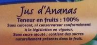Jus d'ananas 100% fruit - Ingredienti - fr