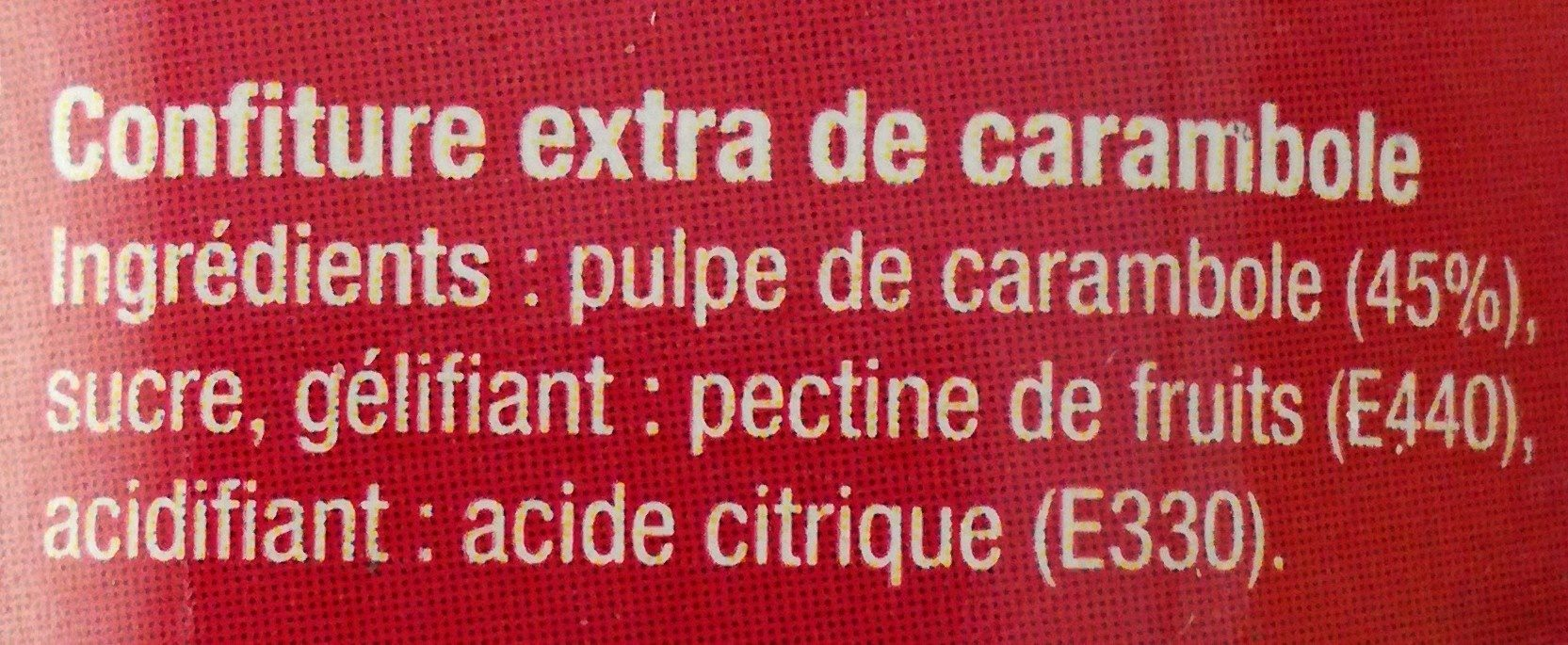 Confiture extra Carambole - Ingredients - fr