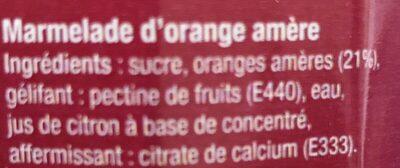 Marmelade orange amere - Ingredients - fr
