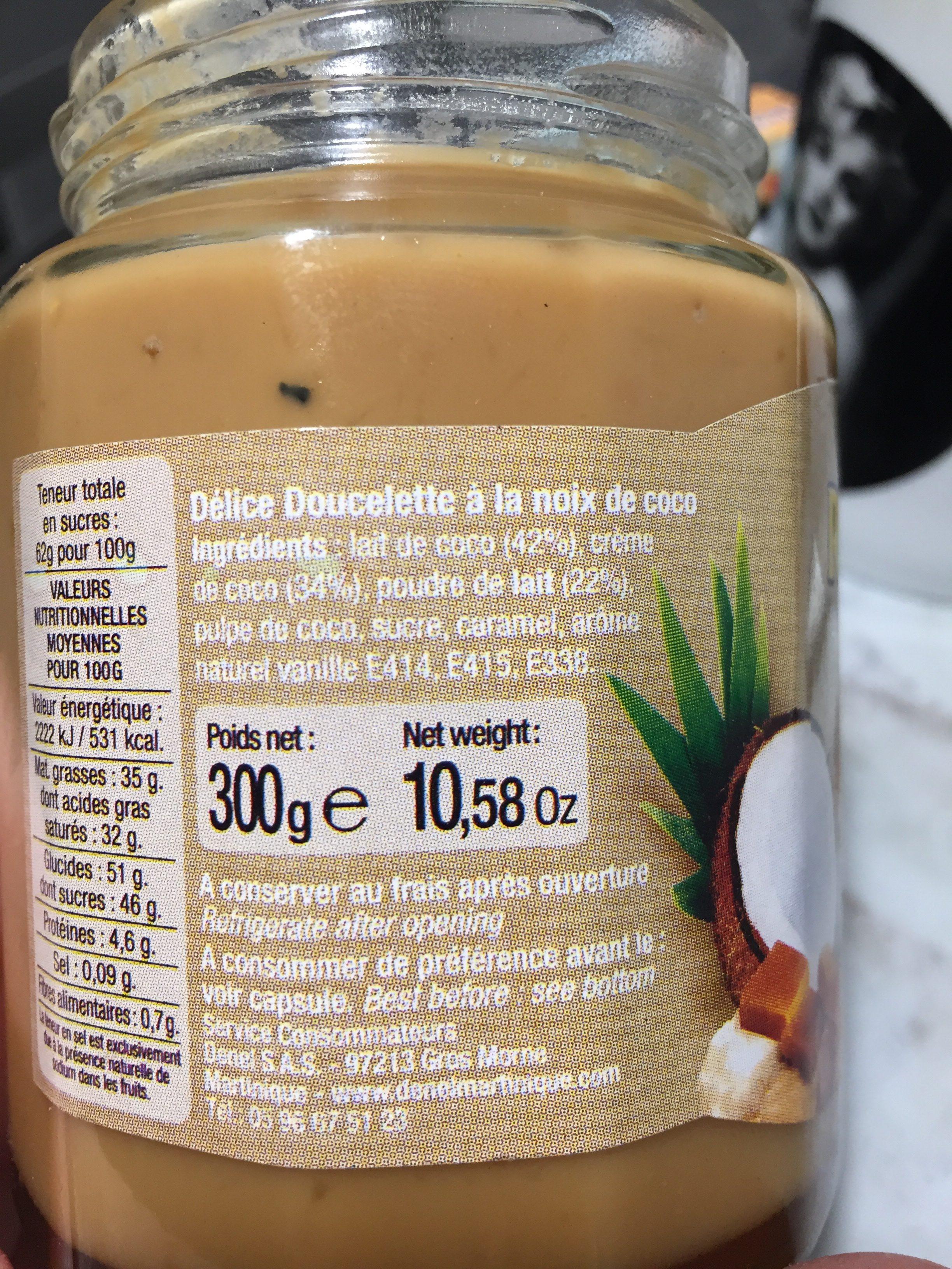 Délice doucelette coconut - Ingredients - fr