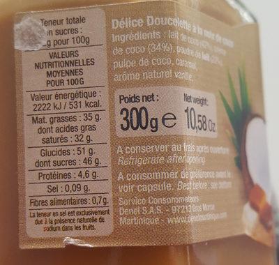 Délice doucelette coconut - Nutrition facts - fr