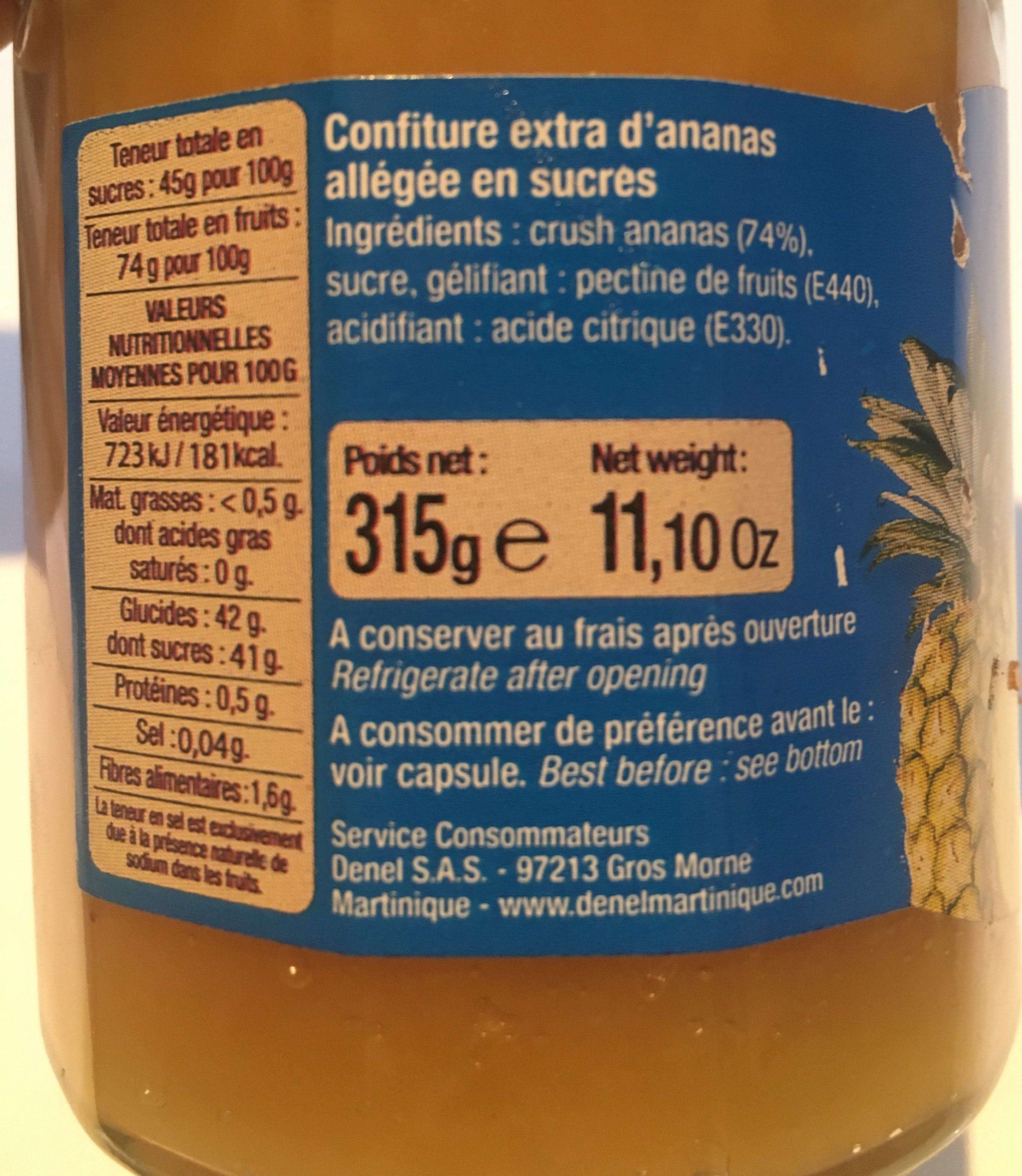 Confiture allégée ananas - Inhaltsstoffe - fr