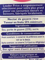 Nectar De Goyave 3 l - Ingredienti - fr