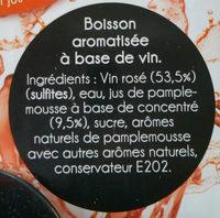 Rosé Pamplemousse - Ingredients