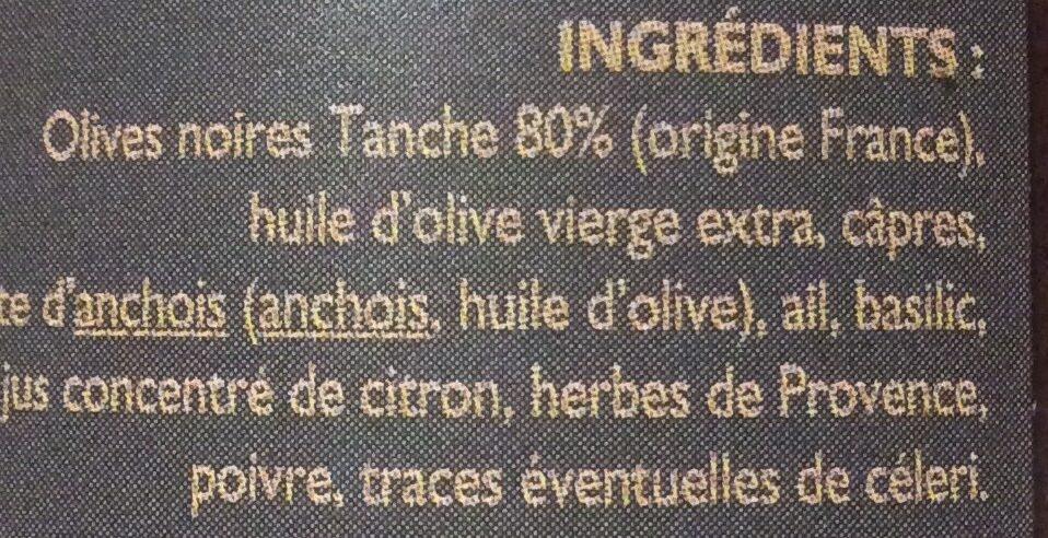Tapenade - Ingredienti - fr