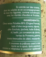 Tapenade verte - Ingredients