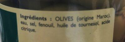 Olives cassées à la provençale - Ingredients