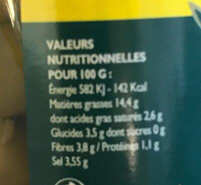 Olives cassées à la provençale - Nutrition facts