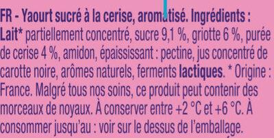 Délice De Yaourt Cerise - Ingredients - fr