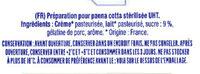 Préparation pour Panna cotta - Ingrediënten - fr