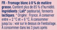 Fromage blanc nature 0% MG - Ingredienti - fr