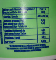 Fromage blanc Bibeleskaes nature 8% MG - Informations nutritionnelles - fr