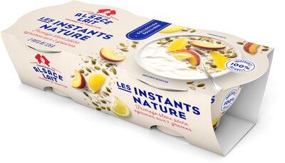 Fromage blanc pêche agrumes aux 2 graines - Les Instants Nature - Produit - fr
