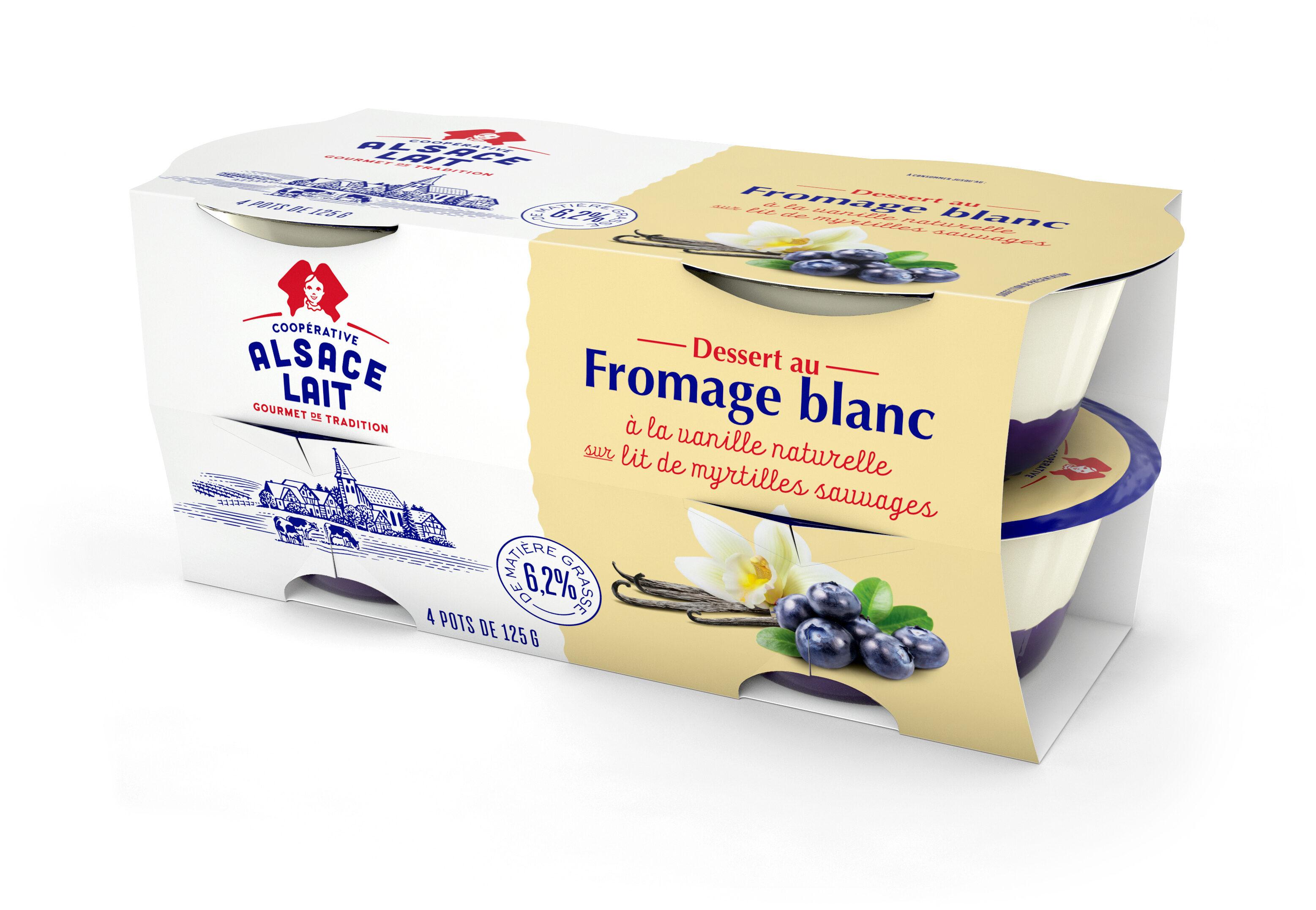 Dessert Au Fromage Blanc à la vanille naturelle sur Lit de myrtilles sauvages - Product - fr