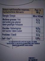 Dessert Au Fromage Blanc à la vanille naturelle sur Lit de myrtilles sauvages - Nutrition facts - fr