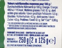 Fromage Blanc aux fines herbes - Nutrition facts