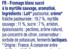 Bibelskaes sur lit de myrtilles sauvages - Ingrédients - fr