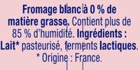 Fromage Blanc 0 % Nature - Składniki - fr