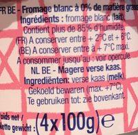 Fromage Blanc 0 % Nature - Składniki