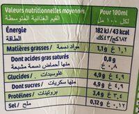 Lait fermenté - Valori nutrizionali - fr