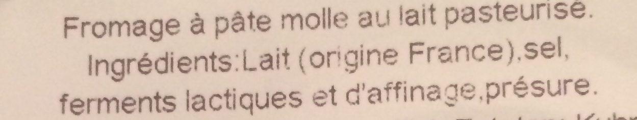 Soumaintrain - Ingrédients - fr