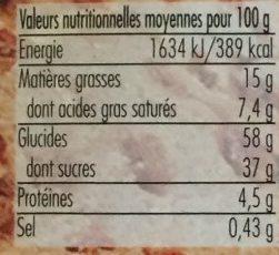 Christstollen - Voedingswaarden - fr