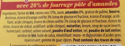 Confiserie de stollen - Ingrediënten - fr