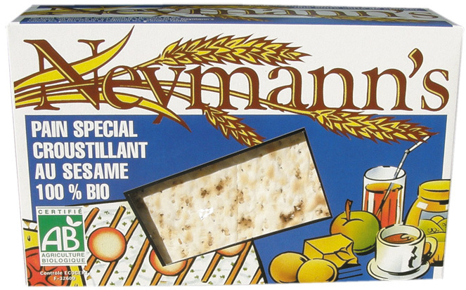Neymann's Pain spécial croustillant au sésame 100% bio - Produit
