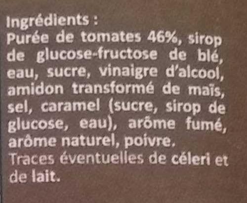 Sauce barbecue - Ingrediënten