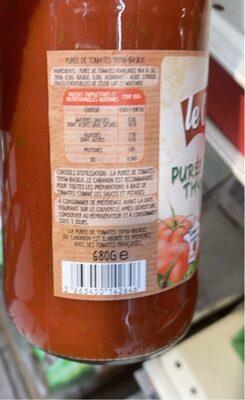 Purée de tomates thym -basilique - Informations nutritionnelles - fr