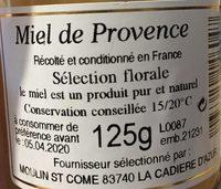 Miel de provence - Ingrediënten