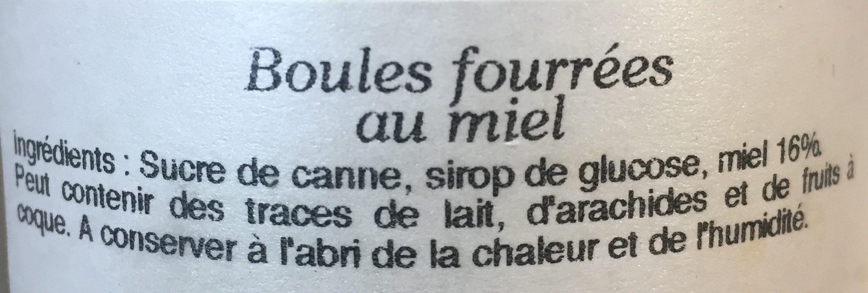 Bonbons boules fourrees au miel Bonbons dur naturel au - Ingredients - fr