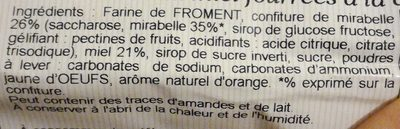 Nonnettes Fourrées Mirabelle 200G - Ingrediënten - fr