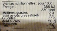 Nonnettes Fourrées Mirabelle 200G - Voedingswaarden - fr
