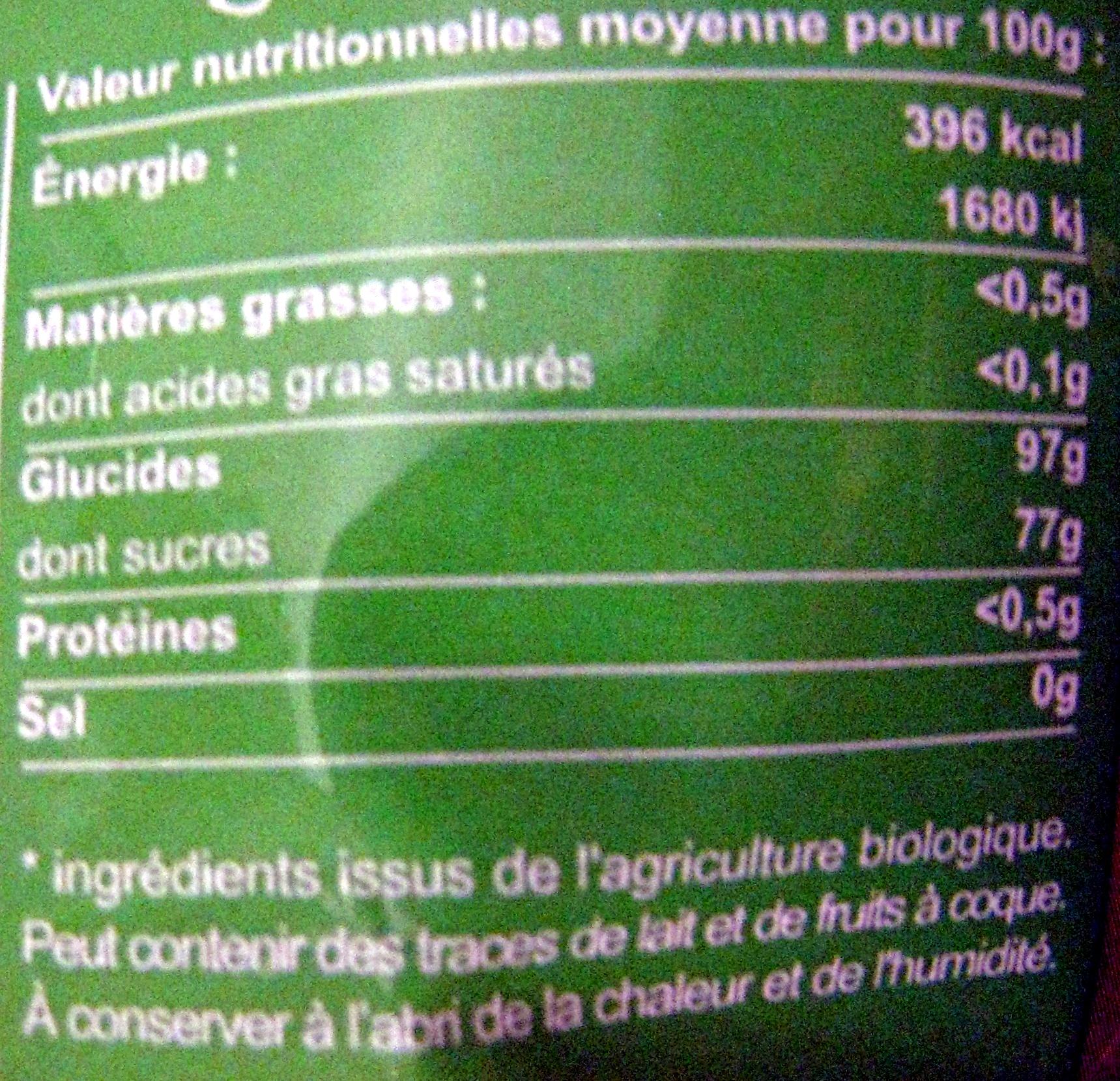 Pastilles au Miel - Nutrition facts - fr