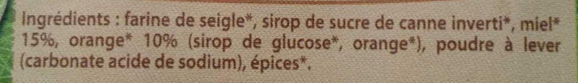 Pain d'épices au miel et écorces d'oranges - Ingrediënten - fr